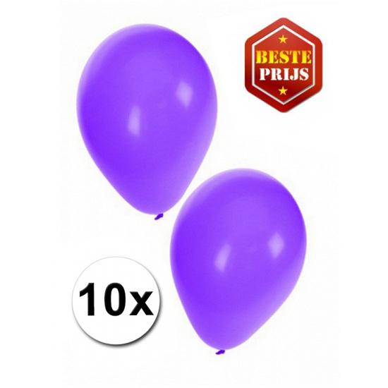 Paarse decoratie ballonnen 10 stuks