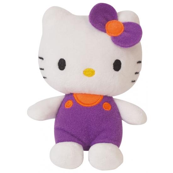 Paarse pluche Hello Kitty knuffel