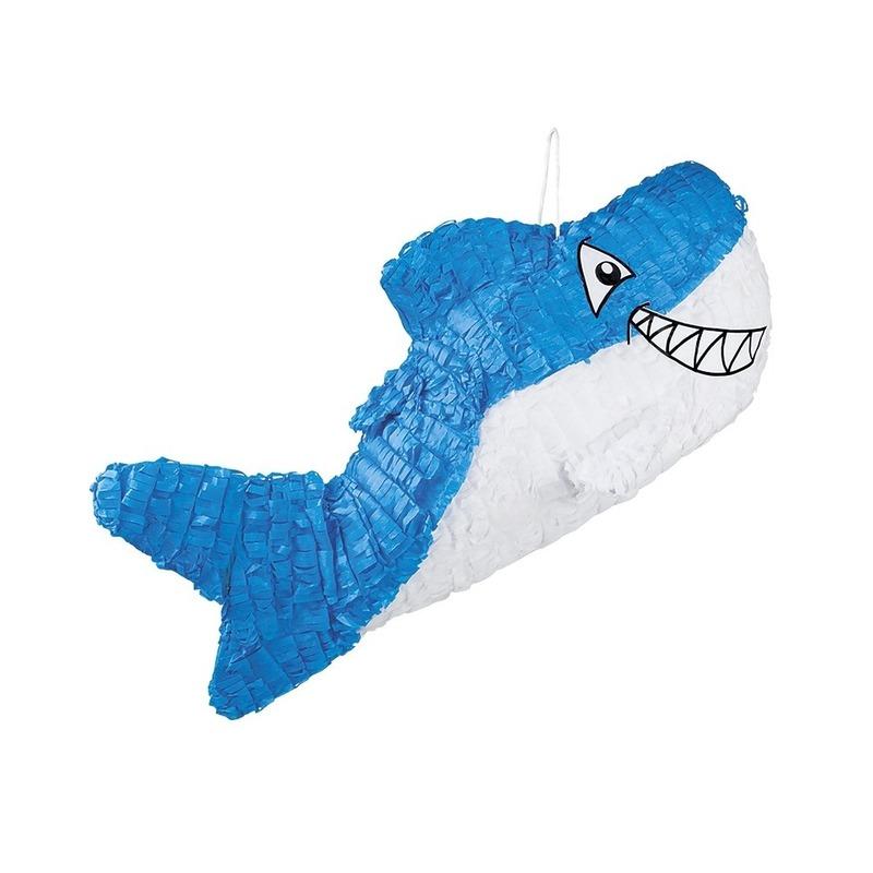 Pinata blauwe haai 60 cm