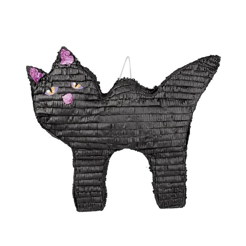 Pinata zwarte kat-poes 58 cm