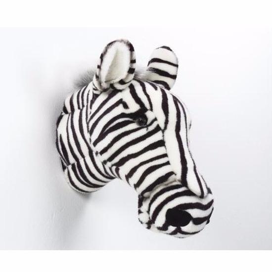 pluche decoratie zebra kop