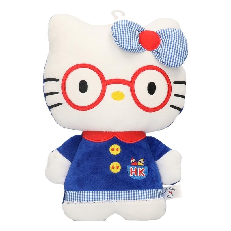 Pluche Hello Kitty knuffeltje in jurkje 25 cm