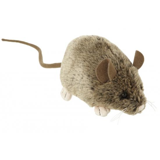 Pluche knuffel muis 12 cm