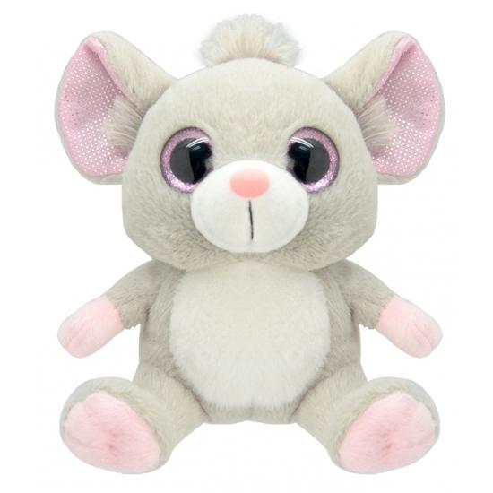 Pluche muis knuffel 19 cm