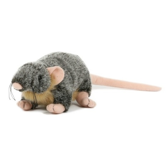 Pluche rat-muis knuffel 18 cm speelgoed
