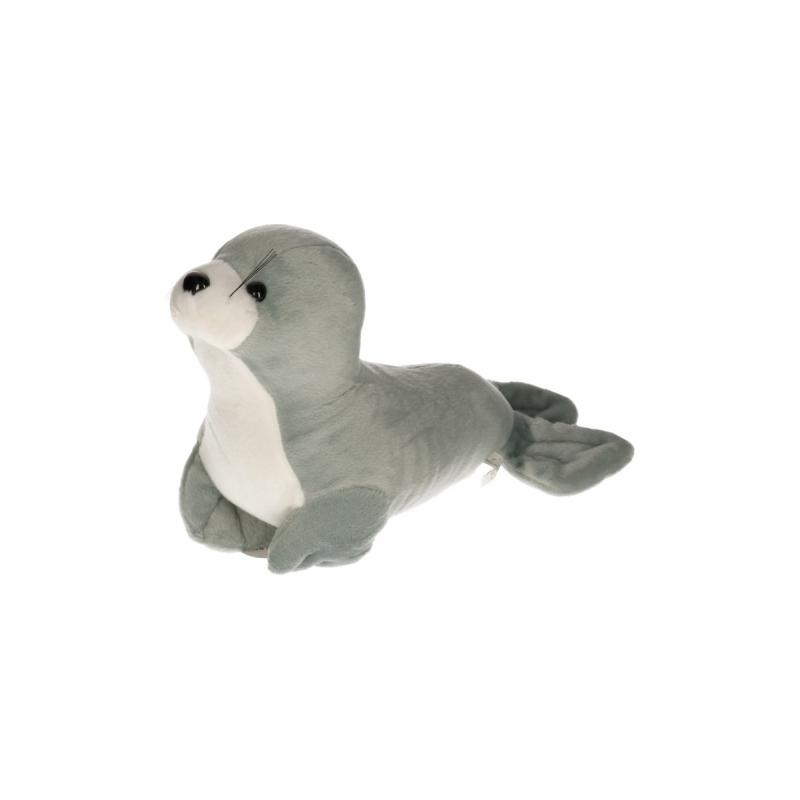 568210f88389f4 Zeehond knuffeldier grijs met wit bestellen | Handpoppen winkel