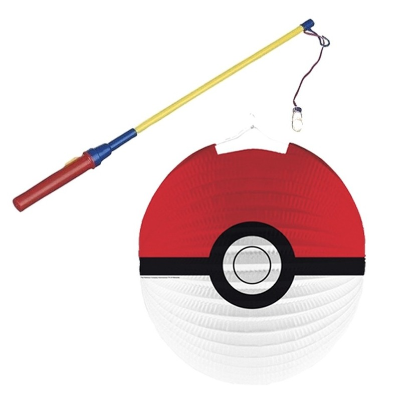 Pokemon Ball lampion met lampionstokje