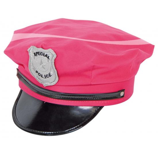 Politie petten in roze kleur
