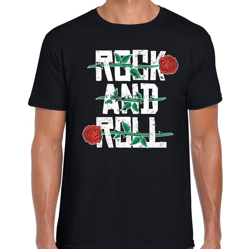Rock and Roll t-shirt zwart voor heren