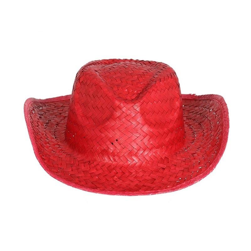 Rode cowboy-strohoed voor volwassenen