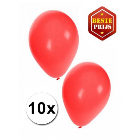Rode decoratie ballonnen 10 stuks