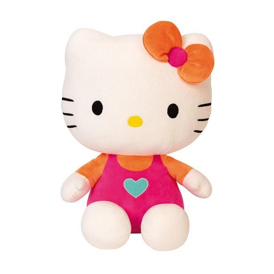 Roze pluche Hello Kitty knuffel 30 cm