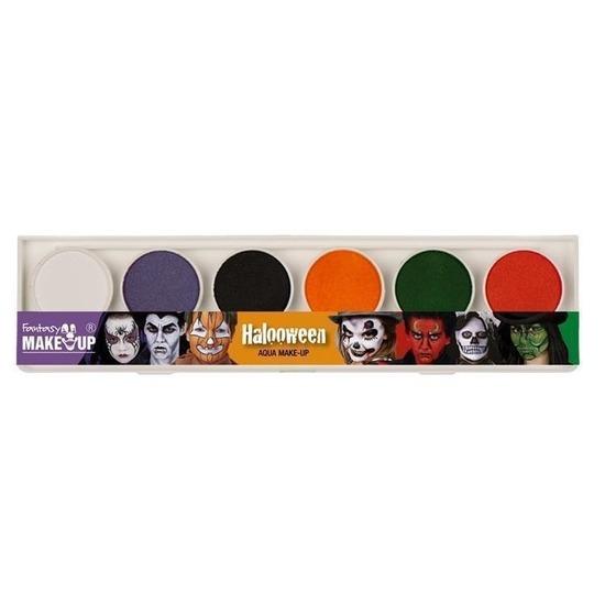 Schmink set horror make-up 6 kleuren