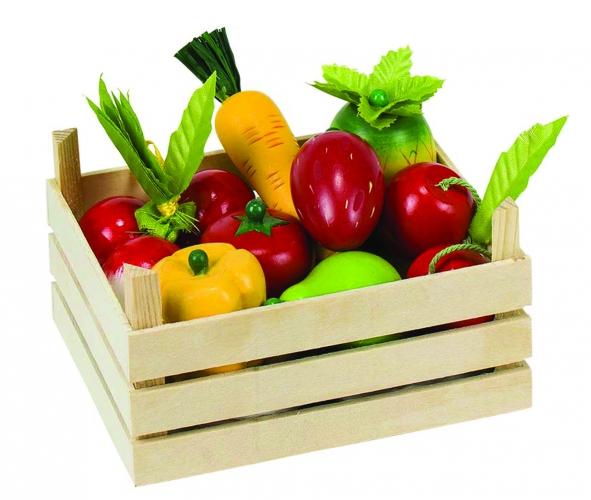 Speelgoed groenteboer kistje