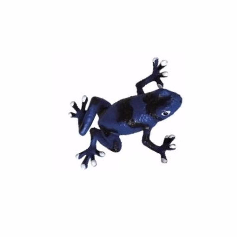 Speelgoed pijl gifkikker blauw 5 cm