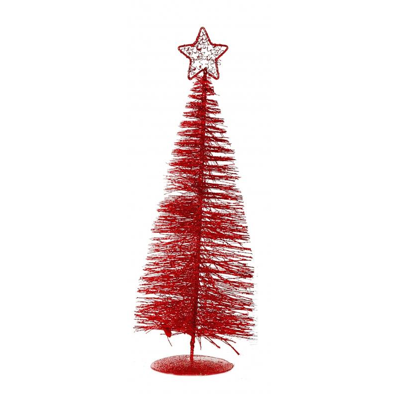 Tafel kerstboompje rood 21 cm