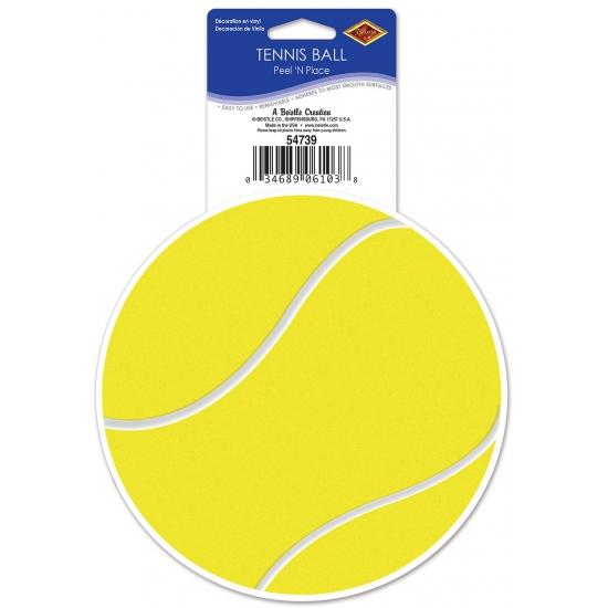 Tennisbaan sticker tennisbal 13 cm