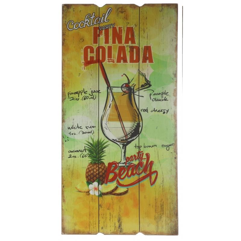Tuin decoratie bordje Pina Colada