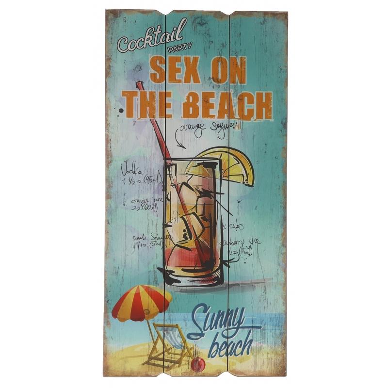Tuin decoratie bordje Sex on the beach