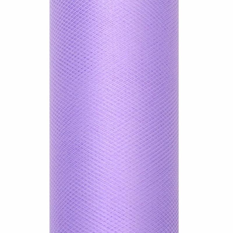 Tule stof paars 15 cm breed