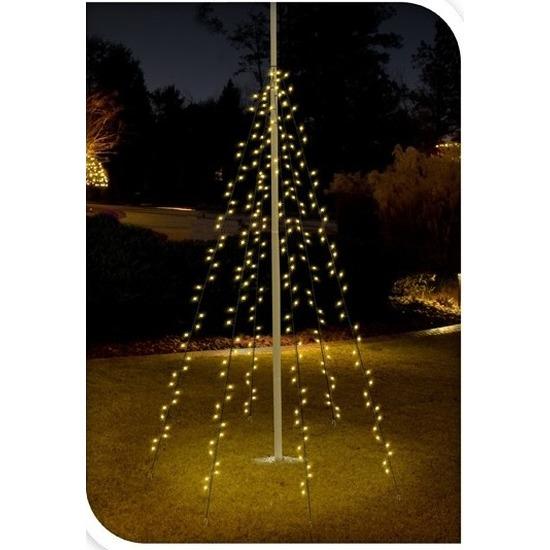 Vlaggenmast kerstverlichting 360 lampjes voor buiten