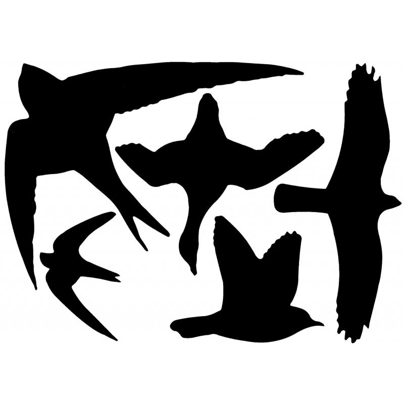 Vogel raamstickers 33 x 23 cm 5 stuks