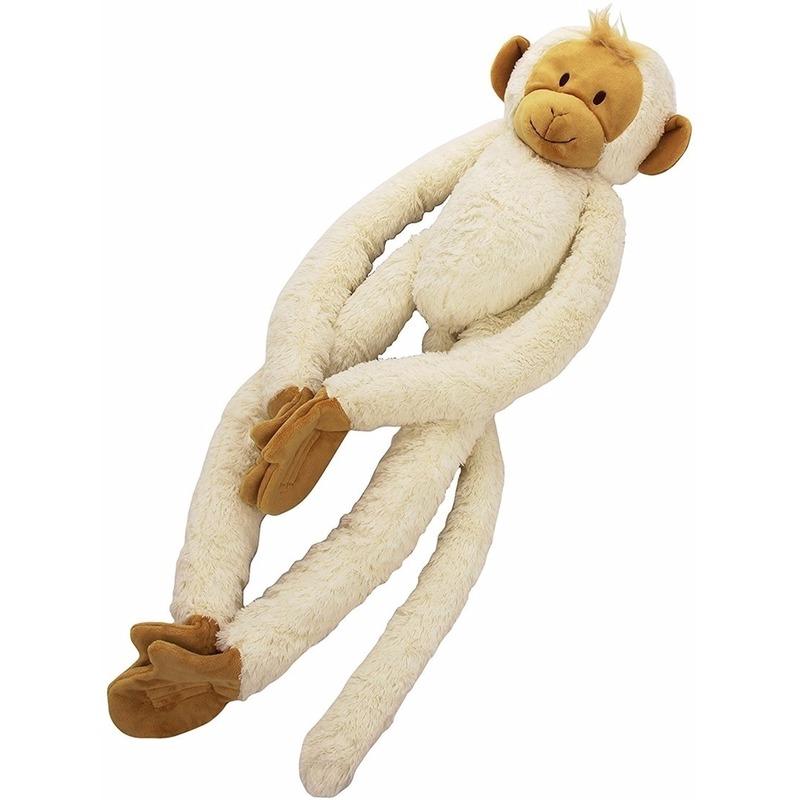 Witte slinger aap knuffels 45 cm
