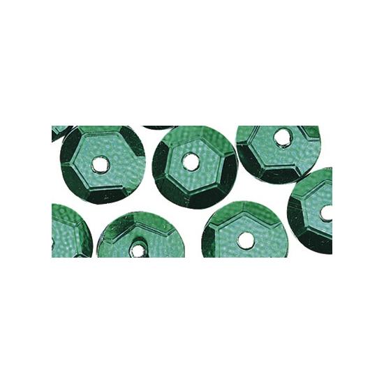 Zakje groene pailletten 6 cm