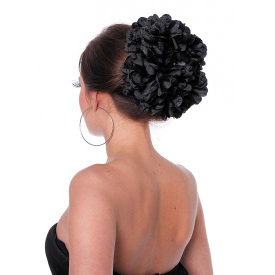 Zwarte bloem haarklem