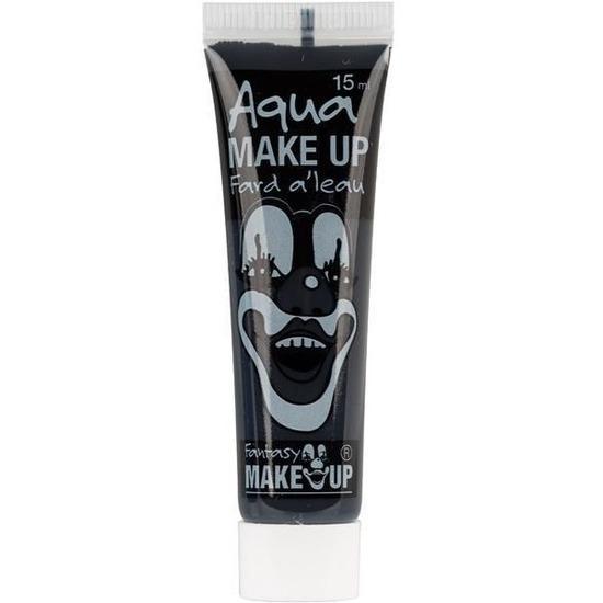 Zwarte schmink horror make-up op waterbasis 15 ml