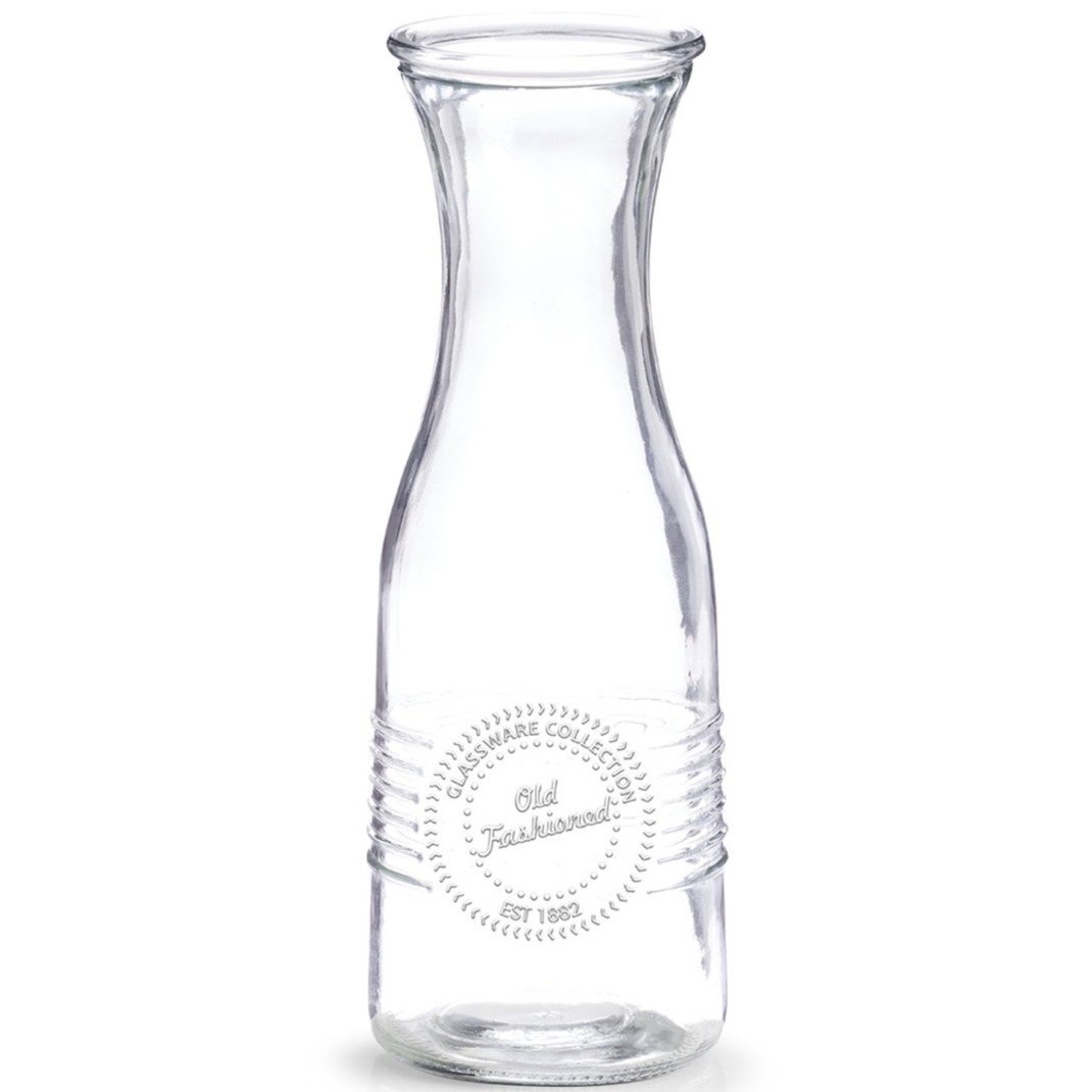 1x Glazen karaffen Old Fashioned 1050 ml
