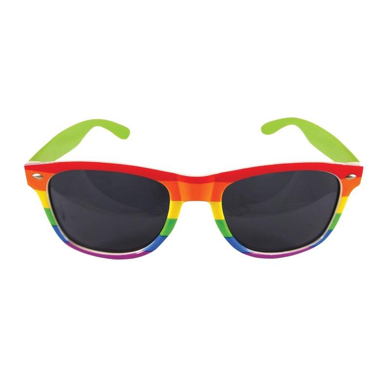 2x Regenboog feest brillen voor volwassenen