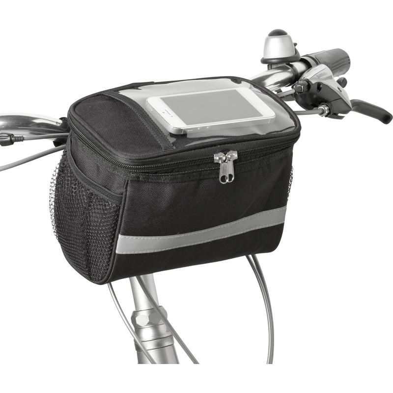 Fiets koeltas-stuurtas fietskoeltas zwart-grijs 4 liter