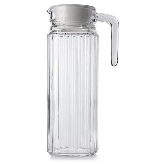 Glazen koelkast schenkkan met dop 1,1 L
