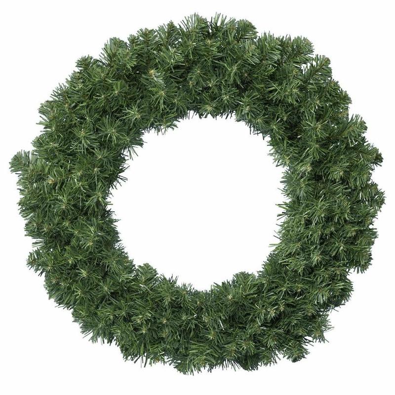 Groene kerstkrans-dennenkrans 60 cm met 200 takken kerstversiering