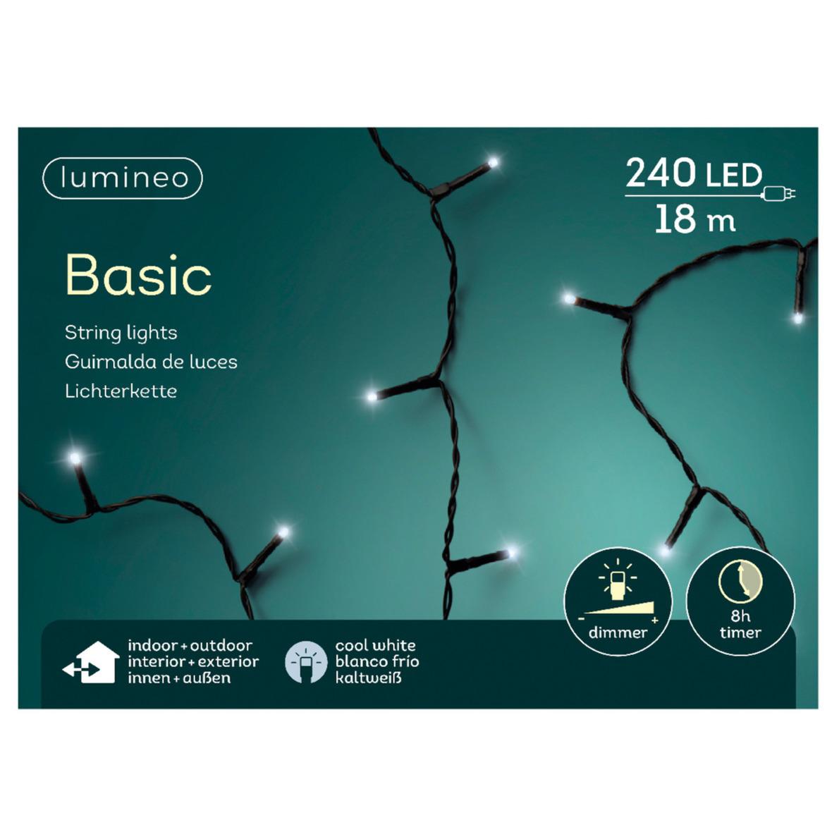 Kerstverlichting helder wit buiten lichtsnoeren 240 lampjes