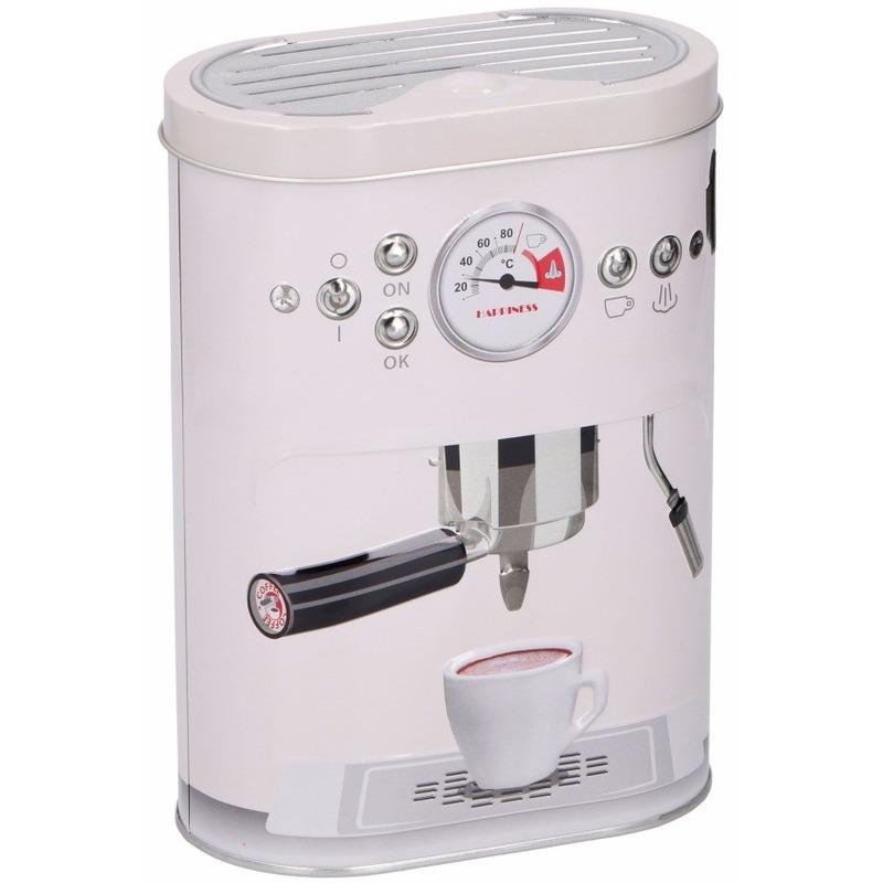 Koffie bewaarblikken wit 17 cm