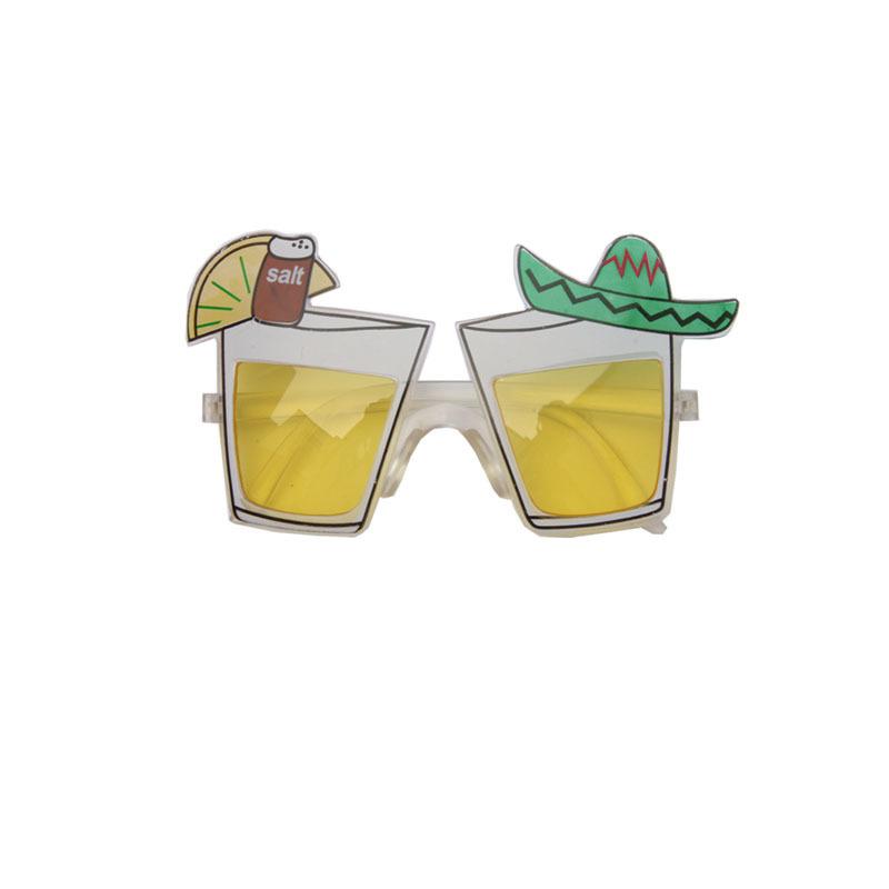 Mexico feest-party bril met tequila glazen