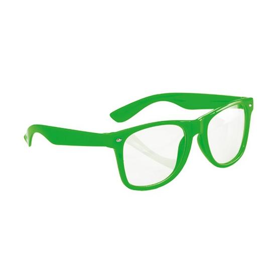 Neon verkleed brillen groen