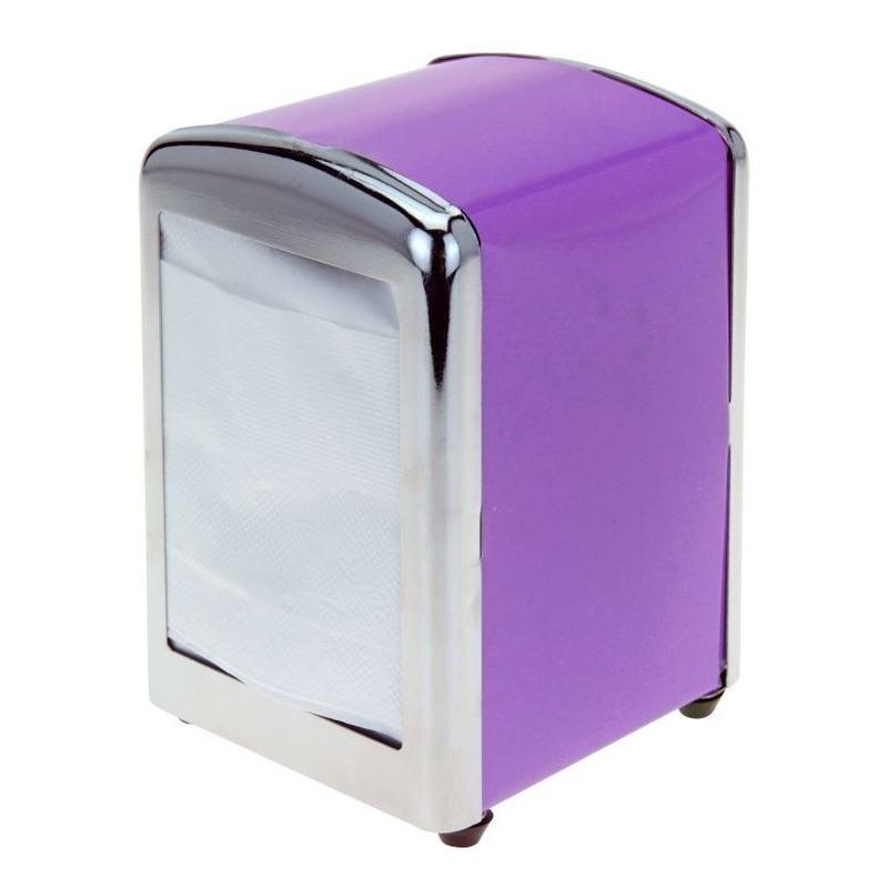 Paarse servethouder- servetten dispenser 14 cm