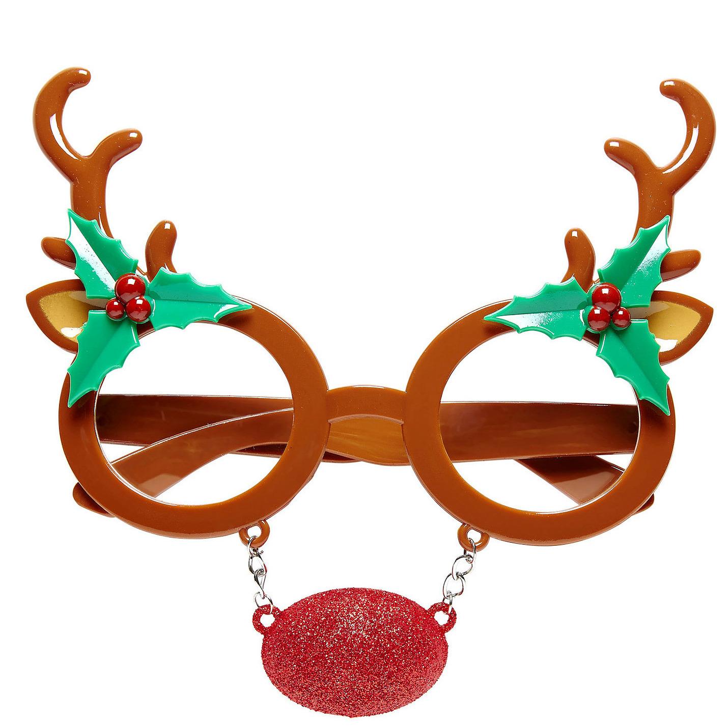 Rendier bril-feestbril kerst accessoires