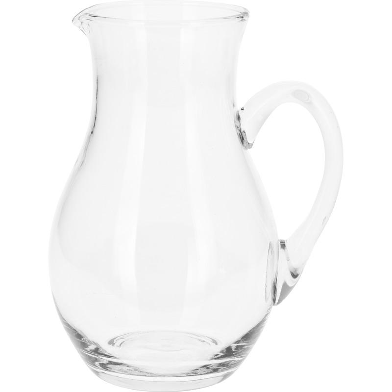 Schenkkan van glas 1 liter 20 cm