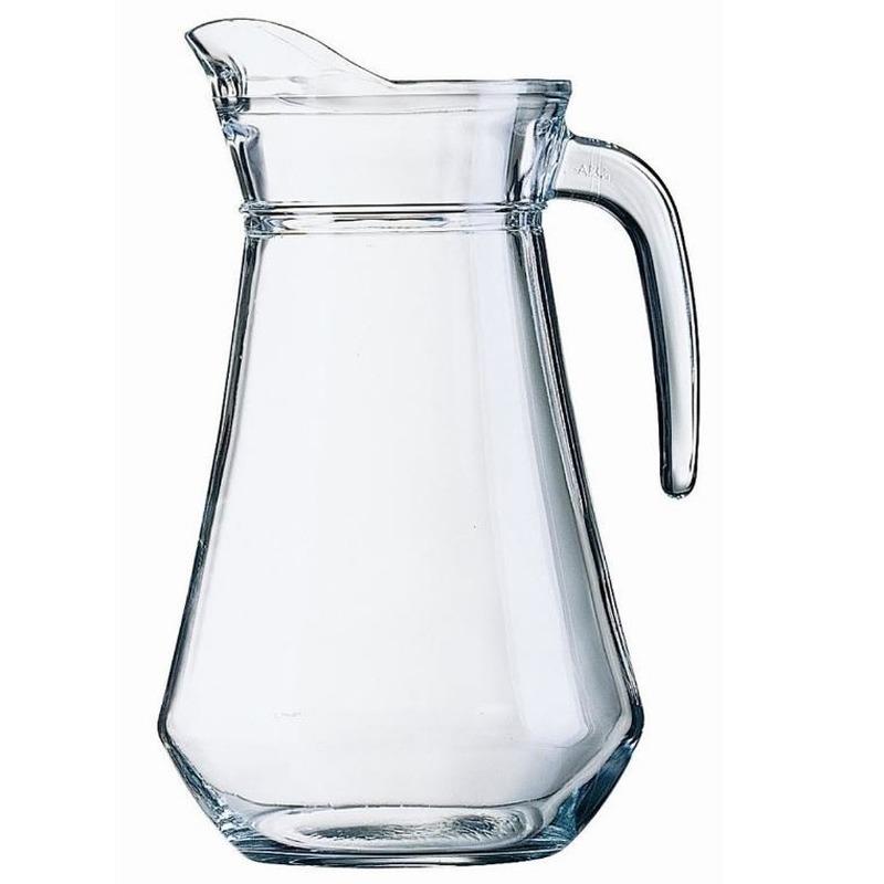 Schenkkan van glas 1 liter van 20 cm