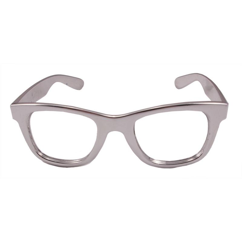 Verkleed bril metallic zilver